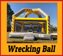 G15 Wrecking Ball (Interactive Bounce House Game)  Look Video InsideBest for ages 5+ Space Needed 26 D x 26 W x 20 H