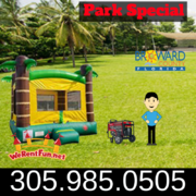 "Park Package # 1 (Tropical Tree Bounce House) <span style=""color:#ff0000;""> <strike> $225 </strike> </span>"