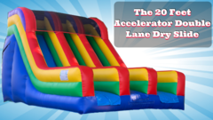 "017 The 20 Feet Accelerator Double Lane Dry Slide  <span style=""color:#ff0000;"">Watch The Unit Video </span>"