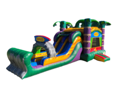 C28 Dual Lane Maui Bounce House With Water Slide (Wet/Dry)Best for ages 2+ Space Needed 36 L x 17 W x 17 H
