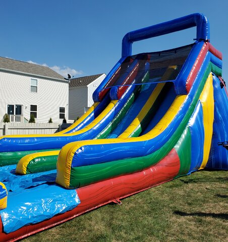 20' Fun Inflatable Dual Slide