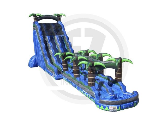27' Blue Crush Dual Lane Water Slide