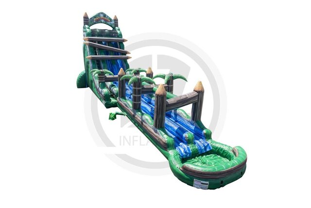 27' Tiki Island Dual Lane Water Slide