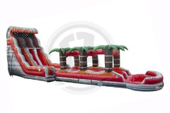 22' Lava Rush Dual Lane Water Slide