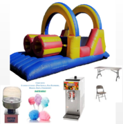 Double Fun Obstacle Course Package