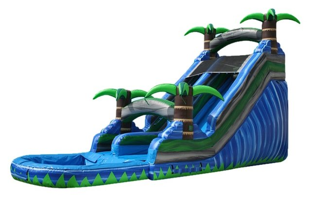 20 ft Tropical Splash Water Slide