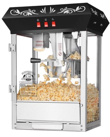 Popcorn Machine w/Supplies for 75 Guests