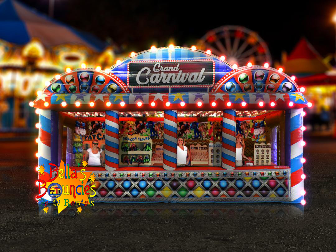 Grand Carnival Booth With Games Bella S Bouncies Grand