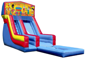Happy Birthday Kids w/o Clown Modular Slide