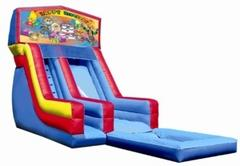 18ft Happy Birthday Kids w/Clown Modular Slide