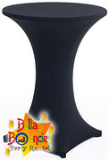 "30"" High Boy Cocktail Table with Black Spandex"