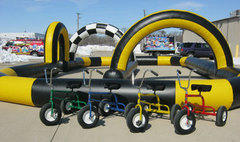 Giant Trikes (4) and Race Track