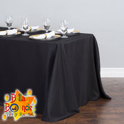 8 Foot Banquet Table with Black Linen Table Cover