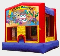 Happy Birthday Kids with Clown Modular Moonwalk 15x15