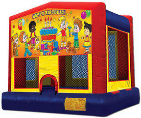 Happy Birthday Kids w/o Clown Modular Moonwalk 13x13