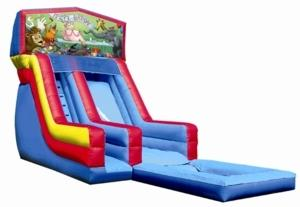 18ft Happy Birthday Animals Modular Slide