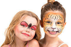 Airbrush Face Paint Glitter Tattoos