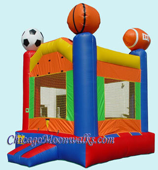 Sports Inflatable Bounce House Rental in Chicago IL Moonwalk Bouncy Castle Rental