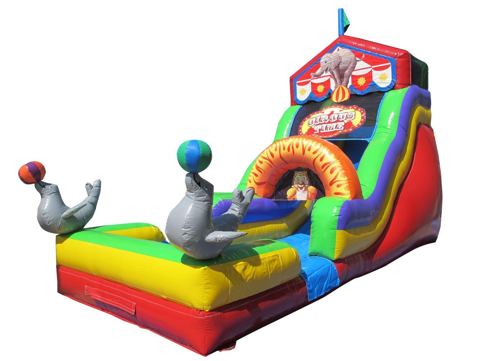 Circus Time Carnival Themed Waterslide Inflatable Rental Chicago IL
