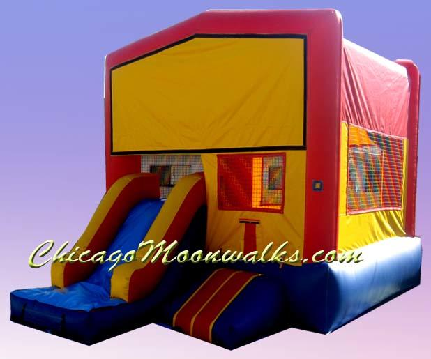 Combo Bounce House Moonwalk Inflatable Rental in Chicago Illinois and Suburbs
