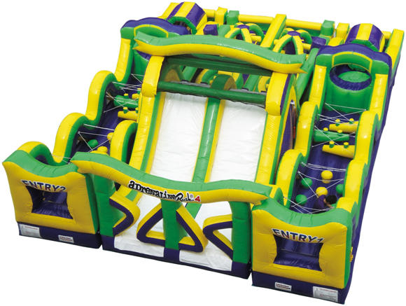 Adrenaline Rush 4 Obstacle Course Rental Chicago Inflatable Obstacle
