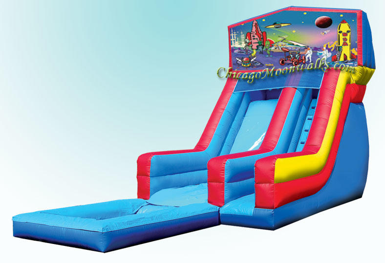 Alien Planet Theme Waterslide Rental Chicago Illinois, Inflatable Waterslide Rental Chicago