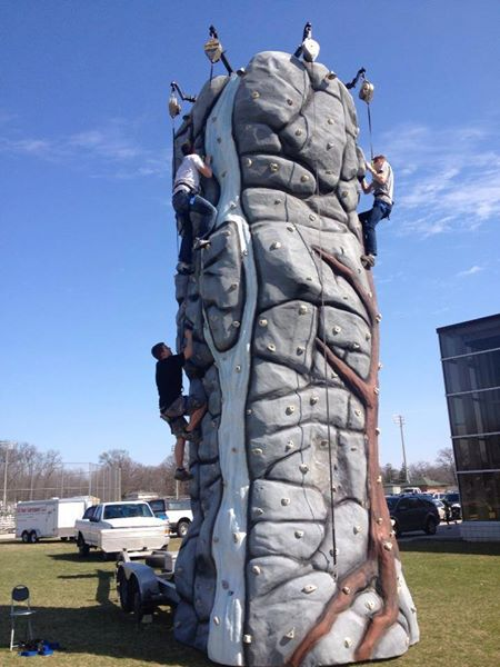 Alpine Rock Climbing Wall Rental Chicago 5 Climber