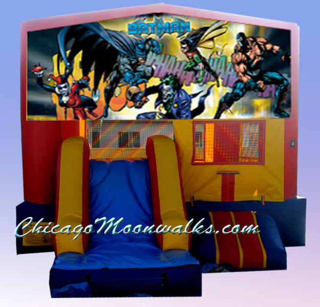 3-in-1 Batman Combo Rental Chicago IL, Inflatable Combo Rental