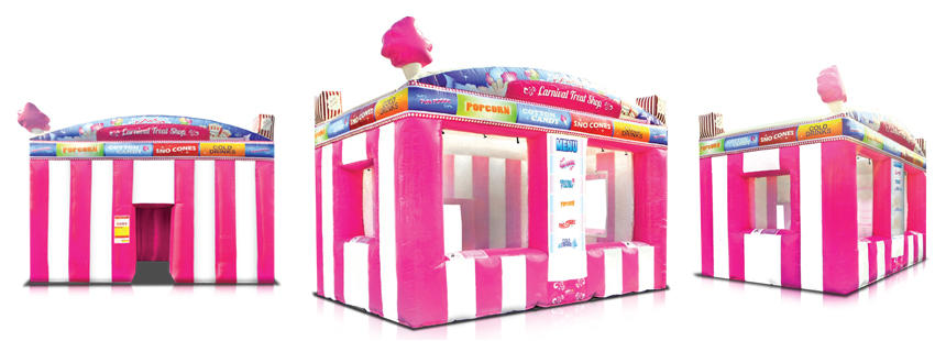 Pink Inflatable Carnival Treat Concession Booth Rental Chicago IL