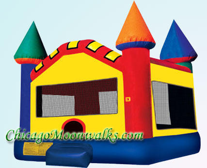 Castle Moonwalk Jumper Rental Chicago Moonwalks Inflatable