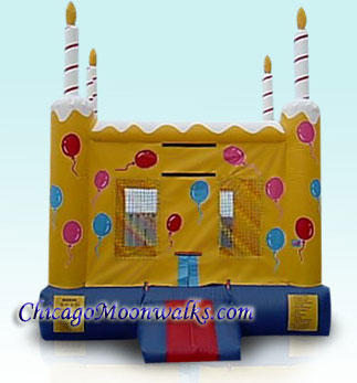 Celebration Cake Bounce House Rental