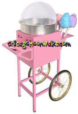 Chicago Cotton Candy Machine Rental  Includes Cart, and Supplies Chicago Illinois Rental