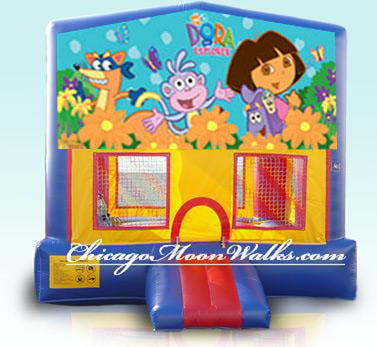Dora The Explorer Inflatable Bounce House Rental Chicago Moonwalks IL