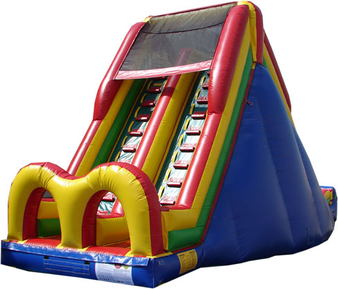 Chicago Inflatable Dry Slide Rentals, Inflatable Obstacle course rentals in Chicago