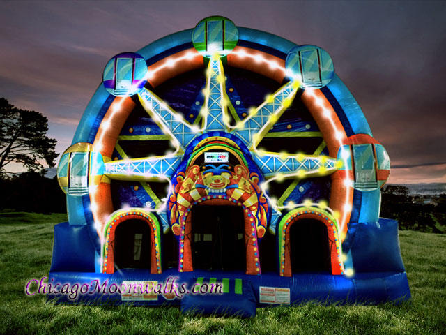 Carnival Ferris Wheel Inflatable Bounce House Combo Rental Chicago