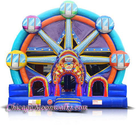 Ferris Wheel Rental Chicago, Bounce House Combo Carnival Theme, Chicago Moonwalks