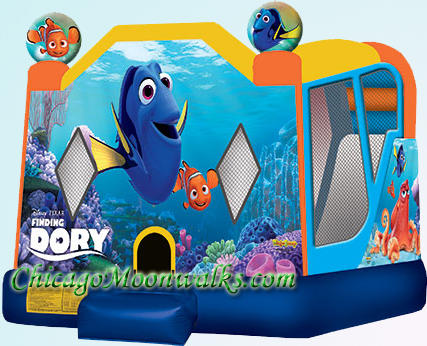 Finding Dory Inflatable Moonwalk Combo Rental in Chicago IL