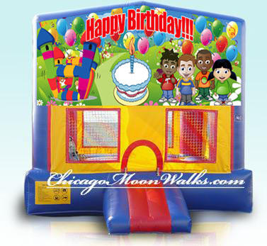 Happy Birthday Inflatable Bounce House Rental Chicago Moonwalks IL