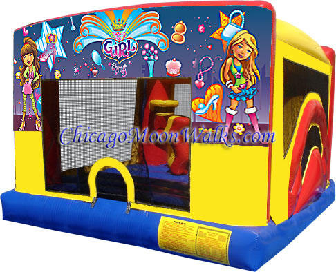 Its a Girl Thing Indoor Bounce House Inflatable Rental Chicago Illinois Moonwalks Party Bouncy Castle
