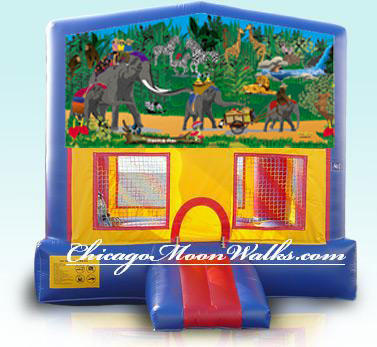 Jungle Fun Inflatable Bounce House Rental Chicago Moonwalks