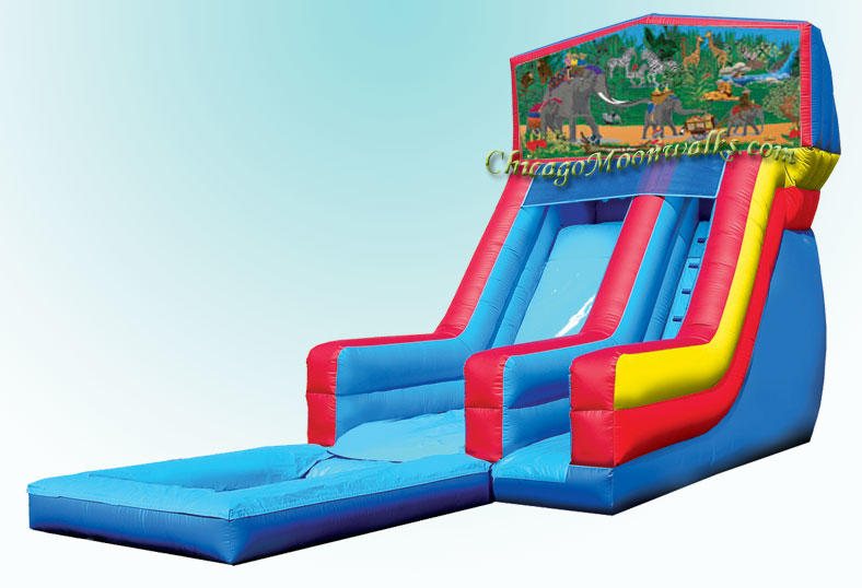 Jungle Fun Inflatable Waterslide Rental Chicago IL
