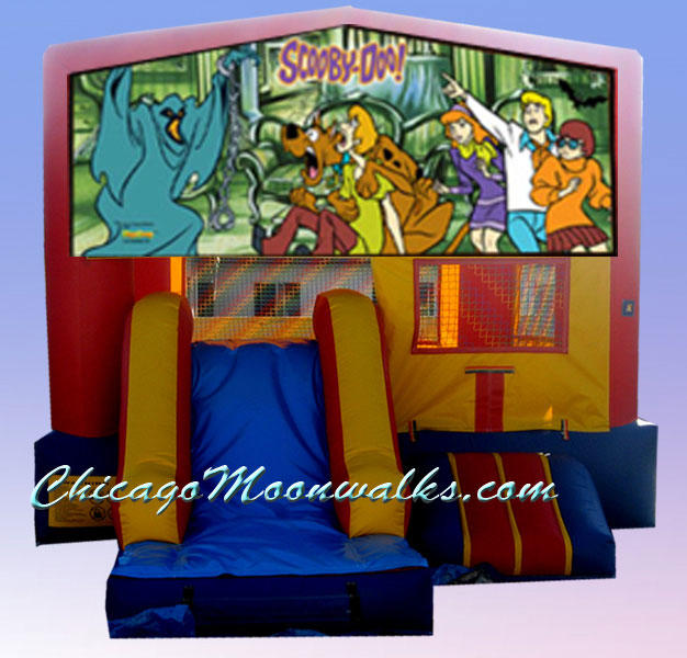 Scooby Doo 3 in 1 Inflatable Slide Combo Bounce House Rental Chicago Illinois