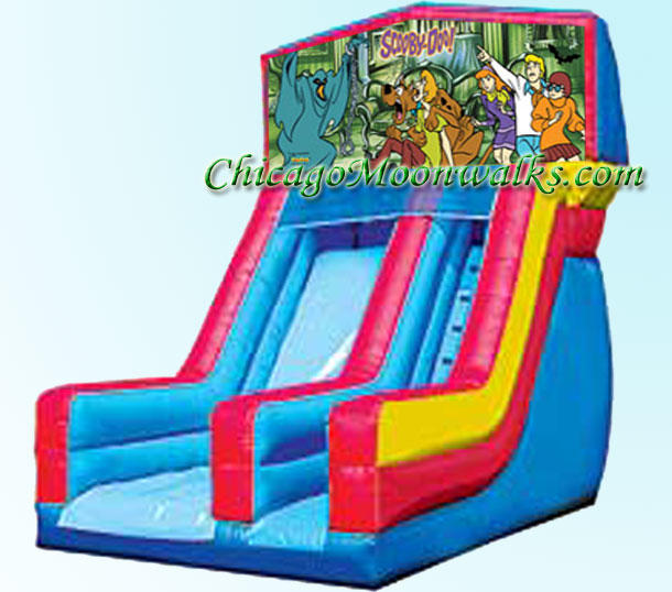 Scooby Doo Slide Inflatable Rental Chicago Illinois Bounce House Moonwalks