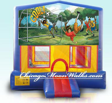Soccer Bounce House Inflatable Rental Chicago Illinois Moonwalks Party