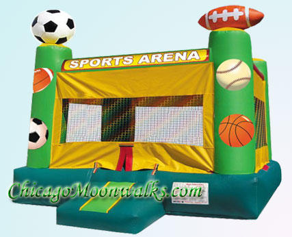 Sports Arena Bounce House Inflatable Rental Chicago Illinois Moonwalks Party