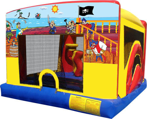 Treasure Island Pirate Combo Indoor Bounce House Inflatable Rental Chicago Illinois Moonwalks Party Bouncy Castle