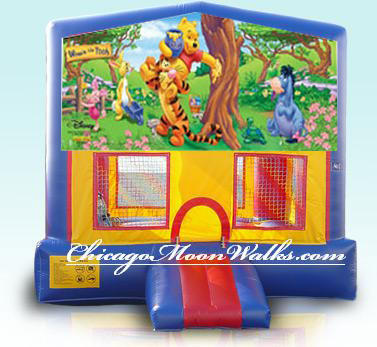 Winnie The Pooh Inflatable Bounce House Rental Chicago Moonwalks IL