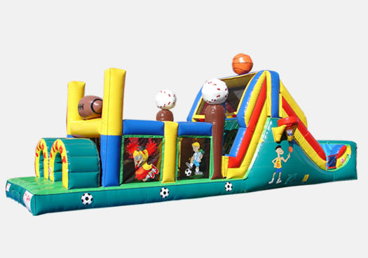 Chicago Sports All Star Inflatable Slide Obstacle Course Rental