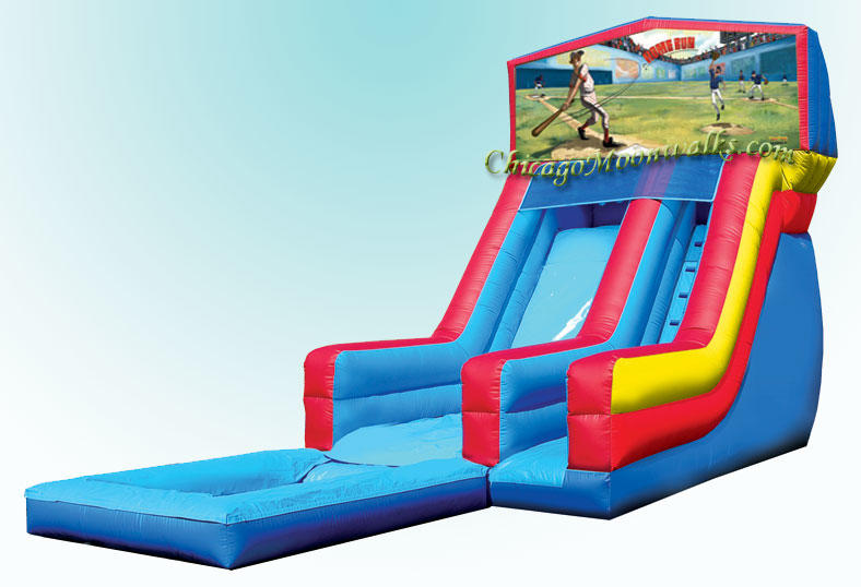 Baseball Inflatable Waterslide Rental Chicago IL