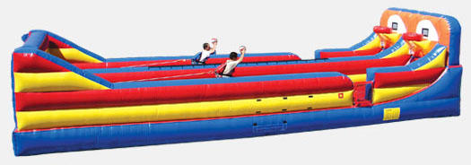 Bungee Run Rental Chicago Illinois, Combo Shootout Basketball Bungee Run Inflatable Game, Just what you%u2019ve been wanting for your Party.  Exciting Game will provide Hours of Fun and Competition.  Competitive Shoot out Combo. Super Team building to the Extreme.  Dual Lane Bungee Includes Harness and Basket Balls.  We Deliver fun to your Corporate Event, Birthday Party, Block Parties, or Children%u2019s Birthday Backyard Event.  Provide Hours of Fun and Excitement, Rent a Bungee Run Today.